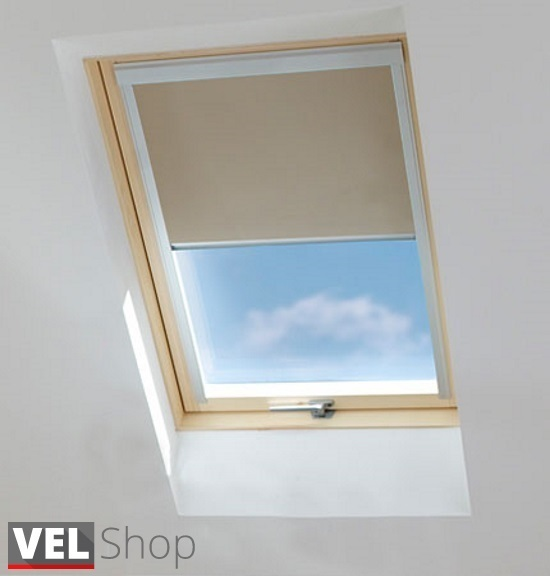 verdunkelungsrollo f r velux dachfenster. Black Bedroom Furniture Sets. Home Design Ideas